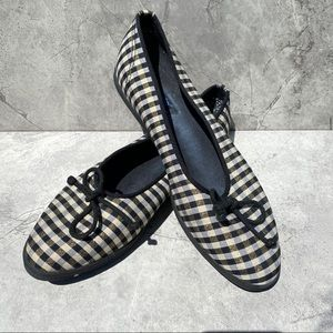 Keds Gold & Black Holiday Plaid Flats Sneakers